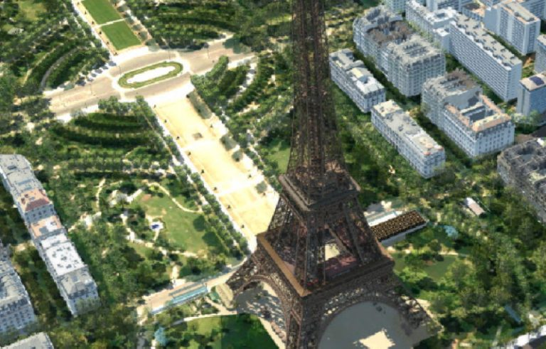 Effeil toren in Virtual reality